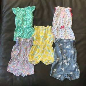5 Pack of Rompers